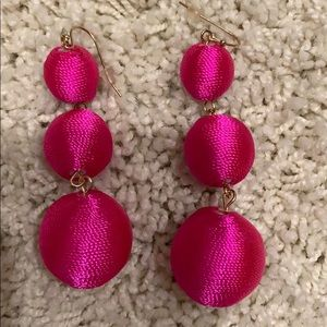 Hot pink dangle earrings